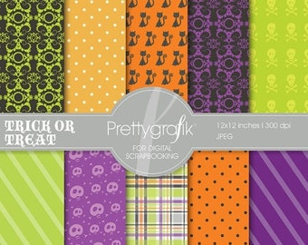 80% OFF SALE Halloween digital paper, commercial use, scrapbook papers, background - PS551