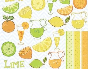 80% OFF SALE citrus lime, lemon, orange clipart commercial use, vector graphics, digital clip art, digital images - CL303
