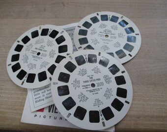 Vintage, Antique Viewmaster reels - Fairy Tales - Reels No. 1-2-3 - No longer produced - from collection of over 100 reels.
