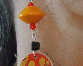 "Earrings ""KLIMT inspired"" uniquely well! MAPERLE"