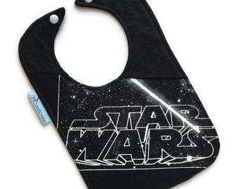 Star Wars Baby Bib • Star Wars Tee Shirt Bib • Baby Shower Gift • Star Wars Gift