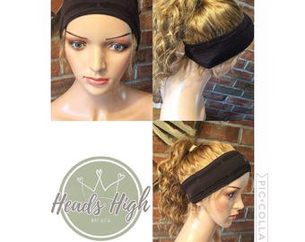 Full coverage Headband & hair with baby hairs available in wavy or straight human hair.