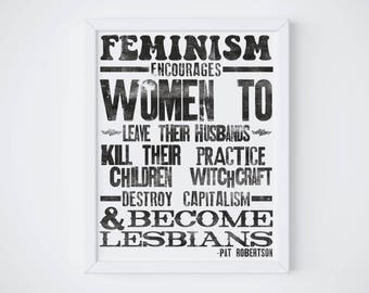 Feminism Encouragement Poster | Feminist Quote Print | Gifts for Her | home decor