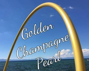 "Golden Champagne Colored 5/8"" or 3/4"" PolyPro Hula Hoop - You pick the size - by Colorado Hula Hoops"
