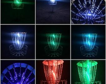 Frisbee Golf LED Target Basket Light - 20 Color Options with Color Changing Modes