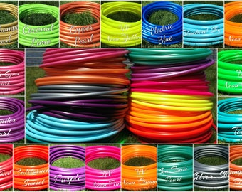 "3/4"" Polypro Bulk Tubing 10,' 20,' 50,' 100' Coils / 20 Colors Options / hoop making supplies DIY hula hoops"