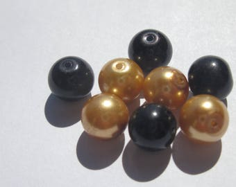 glass Pearl 8 mm - PV19 - 8 round beads