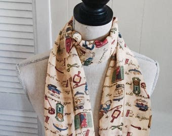 Vintage Nick & Nora Scarf...10% Off Coupon SAVE10... Free Shipping