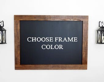 extra large framed chalkboard hand distressed wood shown in medium brown stain 36 - Wood Framed Chalkboard