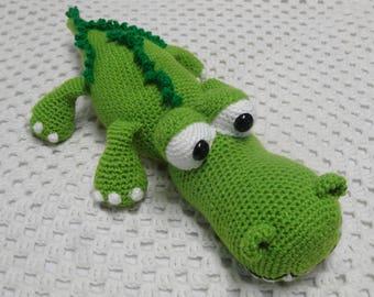 crocodile, READY TO POST, crochet animal, amigurumi, crochet toy, boy gift