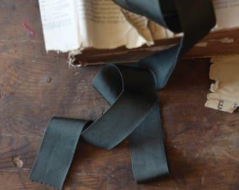 dark balsam green grosgrain ribbon