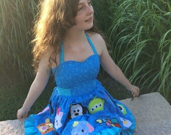 Custom Disney tsum tsum dress 20 appliques! Disney bounding age 6-14