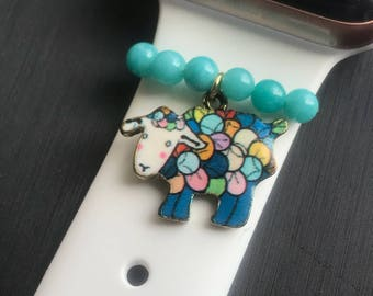 Apple Watch Slide on Charm Jewelry/Accessory Little Colorful Lamb