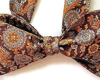 Silk Bow Tie for Men - Magical - One of-a-Kind, Handtailored, Self-tie - Free Shipping