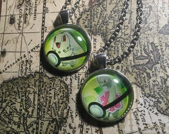 Chikorita / Meganium Pokemon Necklace