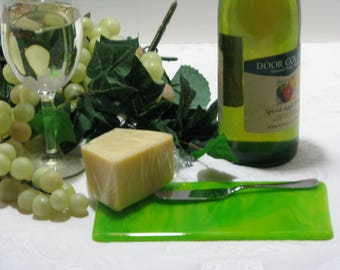 Sour Apple 4X8 Fused Glass Cheese Tray