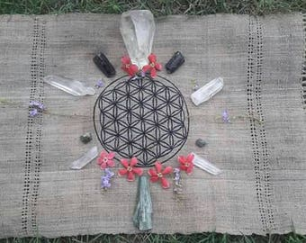 EMBROIDERY flower of life flower of life for ritual 100% natural