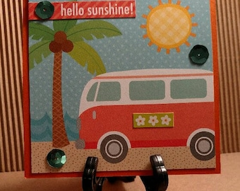Summer series hand made note card with envelope