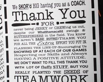 Softball Coach Thank You Wish Bracelet - Great for Coach Thank You Gift ... Appreciation ... Customizable ... Pick Your Colors