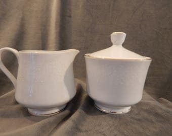 Noleans '' White Lace'' Creamer and Sugar Bowl