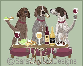 Dogs WINEing - German Shorthaired Pointer