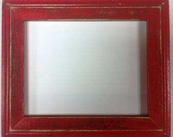 "1-3/4"" TN OKC Red Distressed Picture Frame"