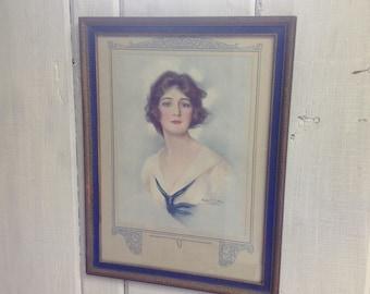 A fair Sailor vintage framed print