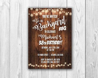 Backyard BBQ Invitations  |  Print at Home