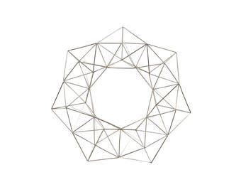 "Silver Wreath - Himmelli Geometric Decor -  Wreath - Metal Wreath - 15"""