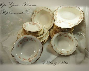 Vintage 1920s & 1940s Pope Gosser Florence Pattern 3025 // Replacement Pieces