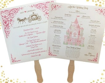 Disney Wedding Programs