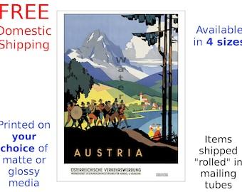 Austria #2 - Vintage Travel Poster (187112242)