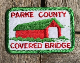 Parke County Indiana Covered Bridge Travel Patch