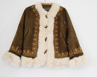 vintage pfennig spur mantel afghanischen mantel wildleder kaninchen bestickt hippie boho festival s m 12 10 - Mantel Der Ideen Mit Uhr Verziert