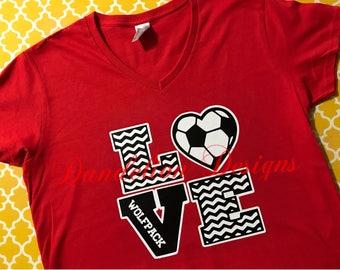 Soccer Mom Shirt Baseball Football Volleyball Softball Custom Team Colors Player Number Last Name