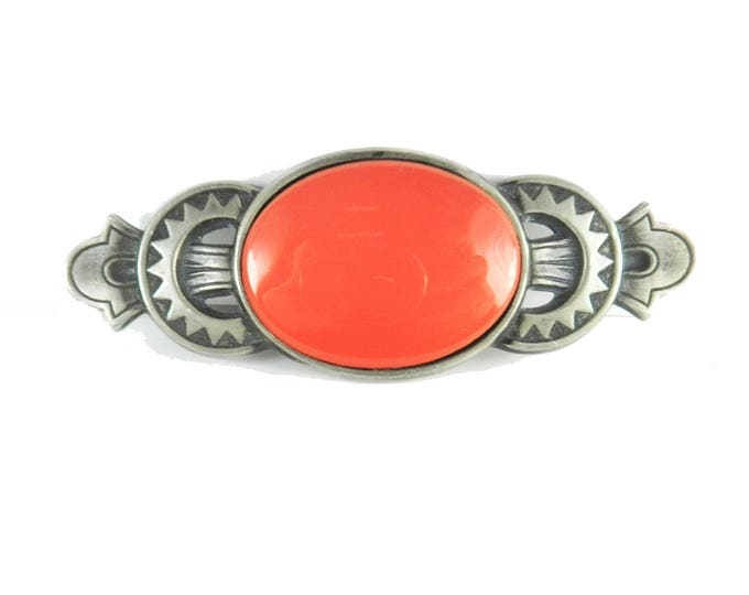 BEN-AMUN Ben Amun Brooch Pin, Ben Amun Jewelry Jewellery, Faux Coral Brooch Pin, Vintage Southwest Style Couture Fashion, Gift for Her