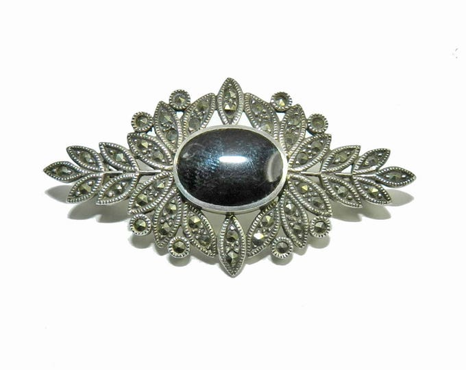 Vintage STERLING SILVER Brooch Pin, Antique Art Deco 925 Brooch Pin, Vintage Fine Jewelry, Designer Signed CW, Gift Idea, Ladies Womens