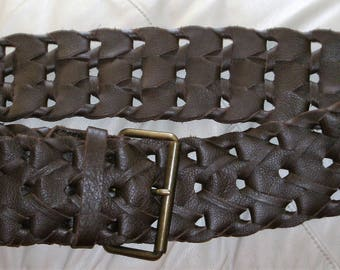 Vintage Braided French Connection Leather Belt