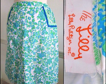The LILLY Skirt / Vintage Lilly Pulitzer Skirt / 60s Lilly Pulitzer Skirt / fits S / Vintage Lilly Skirt