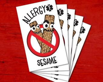 Tattoos for children allergic to SESAME.