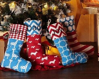 christmas stockings personalized - Burlap Christmas Stockings Decoration
