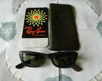 True Vintage Extremely Rare  Bausch & Lomb Ray Ban Caribbean Expresso Sunglasses.Made in USA. 60's-70's.NOS. (New old stock)
