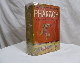 Pharaoh by Eloise Jarvis McGraw, Coward-McCann, 1958 Hardcover First Edition Antique Book Novel Queen Kings Hatshepsut First Woman Ruler