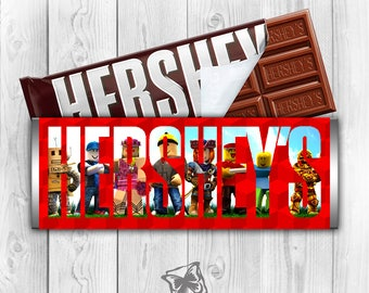 Hershey Bar Wrapper | Roblox | Hershey Bar | Chocolate Bar | Printable Digital Download | Personalized Candy | Candy Wrappers