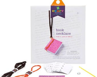 Book Necklace Making Kit by Craft-tastic®