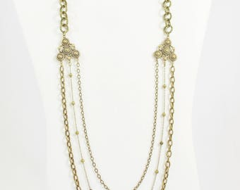 Antique Brass Chain Necklace
