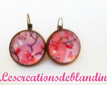 "Earrings ""cherry blossom"" pink tone"