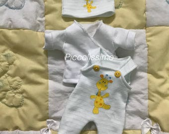 "9"" (22.5cm) giraffe footed pants set"