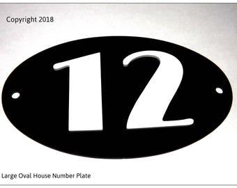 House Door Number Art Deco Style in Black/White DN004