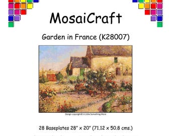 MosaiCraft Pixel Craft Mosaic Art Kit 'Garden in France' (Like Mini Mosaic and Paint by Numbers)